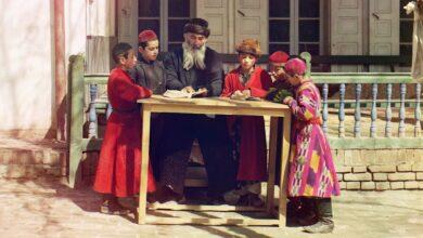 Jewish Children with their Teacher in Samarkand